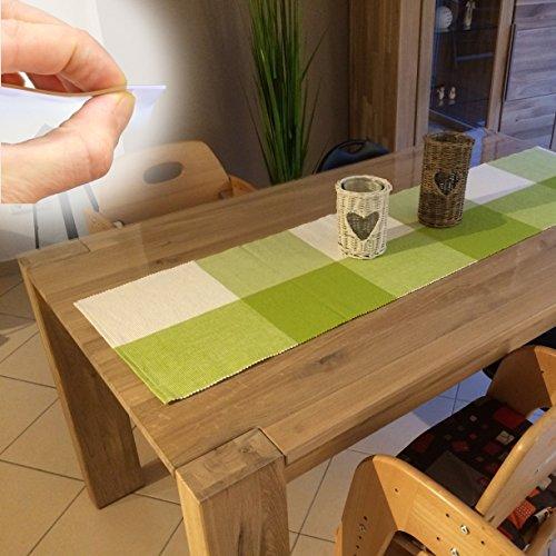 ANRO Tischdecke Tischfolie Schutzfolie Tischschutz Folie 2mm transparent 110cm Breit Länge wählbar