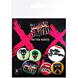 Suicide Squad Official Character Button Badges (Pack Of 6) (One Size) (Multicoloured)