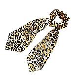 Hacoly Fasce Elastico per Capelli Poliestere Capelli Leopardo Diagonale Anello per Capelli Porta Coda di Cavallo Elastici Capelli Corda Fiocchi Coda di Cavallo Accessori Giallo