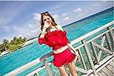 XM Déesse Jupe Sexy Bikini Trois Maillot De Bain Maillot De Bain Combinaison De Maillot Sexy Séparé , Red , L,red,l