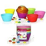 12 Stück Silikonform (Rund) Muffinform Muffinförmchen Backform Kuchenform für Muffins, Brownies, Cupcakes, Kuchen, Eis, Pudding