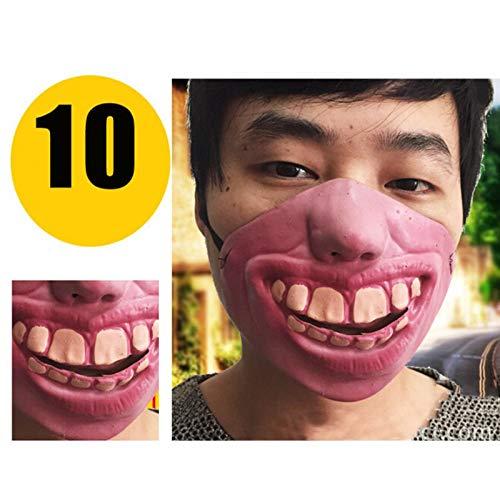 JYYC Gummi Urlaub schrecklich furchterregend Cosplay kostüm Party Halloween Maske Clown Erwachsene Partys Masken Gesicht deko dekoration-010