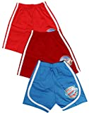 Babeezworld Baby Boy's Basic Cotton Regular Fit Multicolour Printed Casual Sports Shorts Half Pant with Elasticated Waist (Kids Pack Of 3)