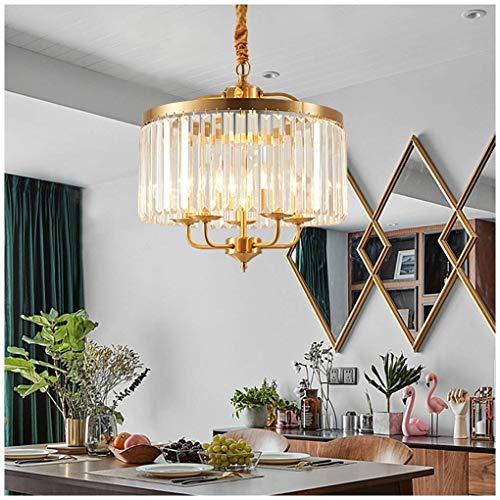 Lámparas modernas Lámparas colgantes Lámpara de cristal de cobre ...