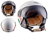 MOTO H44 Italy · Moto Vespa Chopper Motard Urbano Cruiser Bobber Urban Casco Demi-Jet Retro Biker...