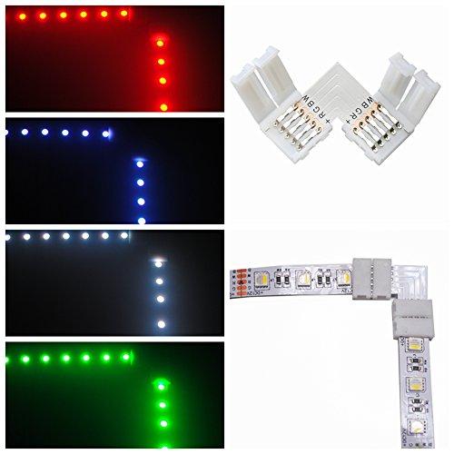 10pcs 5pin L Form LED Verbindungsstück Eckverbinder für 12mm RGB LED Streifen Lichter LED Band Lichter Adapter