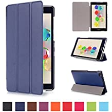 Coque ASUS ZenPad C 7.0 170C - Style de Smart Cover Case Etui à Rabat avec Support Ultra-mince et léger Housse de Protection pour Tablette Asus ZenPad C 7.0 Z170C Z170CG Z170MG 7'' Pouces Coque en Cuir Pochette (Bleu foncé)