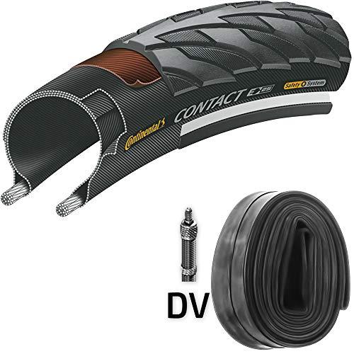 Continental Reifen Contact E25 Draht 28x1,4 + Schlauch 37-622 schwarz