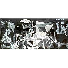 Lámina/Impresión de Arte de Pablo Picasso - Guernica (100cm x 50cm) + 1 paquete de tesa Powerstrips® (20 tiras)