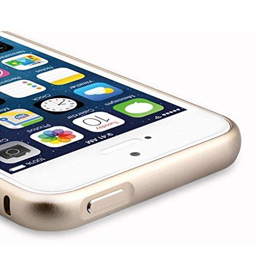 Ouneed® Luxux nehmen Metall Aluminium Legierung Arc Stoßfeld Fall Abdeckung Schutzhülle für iPhone SE 5 5S Case Cover (Gold) grün