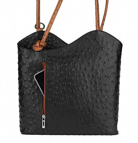 obc-only-beautiful-couture-sac-main-port-au-dos-pour-femme-noir-strau-schwarz-cognachenkel-27x29x8-c