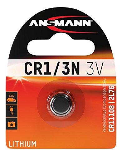ANSMANN Lithium Batterie CR1/3N - CR11108/2L76 Batterie mit 3V und langer Haltbarkeit - Unempfindlich gegen Extremtemperaturen - Ideal für Kamera, Waage, Uhr & Fernbedienungen für Standheizungen 3n Lithium-batterie