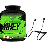 Muscle Fit Whey Protein Mocha Cappuccino Flavour (2 Kg) & Get Jabra Elite 25E Wireless Bluetooth Headphone Free