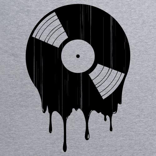 Melting Vinyl T-Shirt, Herren Grau Meliert