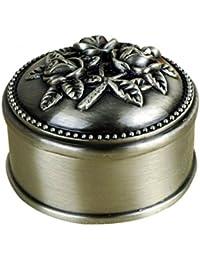 Unendlich U Luxus Beautify Schmuckkästchen Vintage Style Antique klein liebe schmuckkasten habe 5 Optionen,Reines Zinn-Schmuckstück,Silber