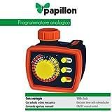 PAPILLON Programmatore analogico per innaffio giardino con orologio e timer Papillon