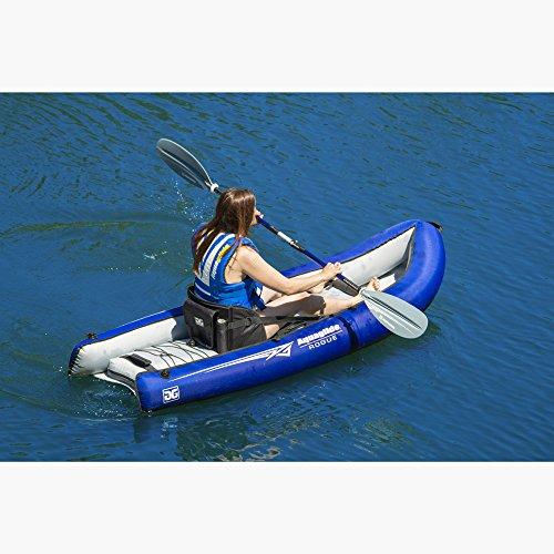 Aquaglide Schlauchboot Aublasbares Kajak Rogue One XP, 244 cm x 91,5 cm L B Luftboot 1 Person -