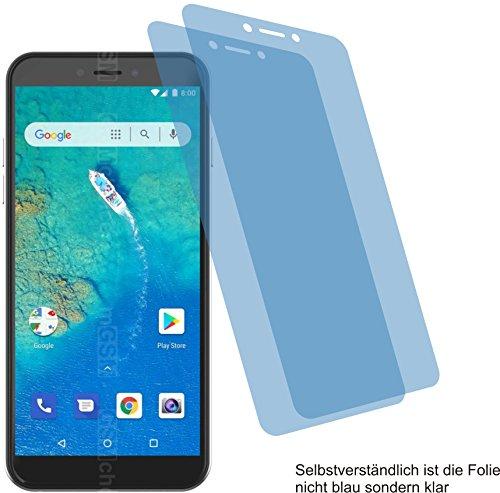 4ProTec 2X ANTIREFLEX matt Schutzfolie für General Mobile GM 8 Go Bildschirmschutzfolie Displayschutzfolie Schutzhülle Bildschirmschutz Bildschirmfolie Folie