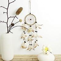 Pennello penna originale India Stile Acchiappasogni con Piume da parete Hanging Ornament Craft regalo Brown