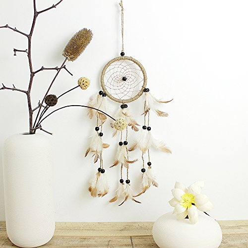 brush-pen-original-india-style-dreamcatcher-with-feather-wall-hanging-ornament-craft-gift-brown