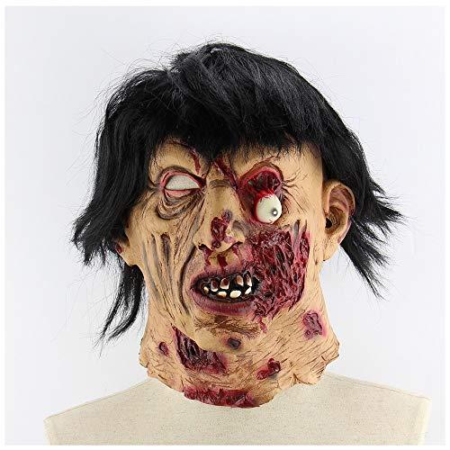 Halloween Latexmaske Scary Brunette Zombie Zimmer Flucht Haunted House Großhandel Requisiten Scary Latex Zombie Geist Maske