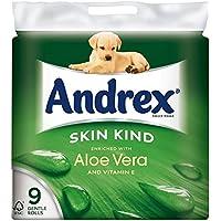 Andrex peau Kind Enrichie en Aloe Vera Rolls toilettes Tissue - 160 feuilles par rouleau (9) -