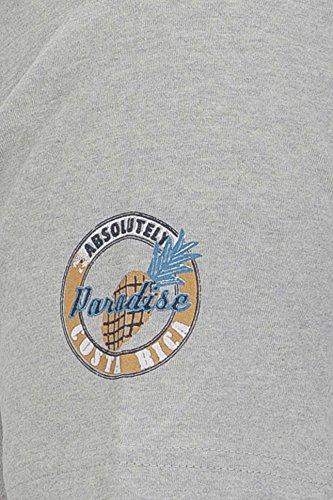 Kitaro Herren Shirt Motiv T-Shirt Costa Rica Grau