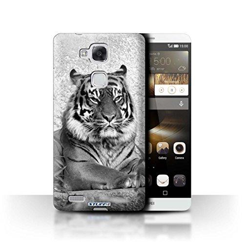 Stuff4® Hülle/Hülle für Huawei Ascend Mate7 / Tiger Muster/Zoo-Tiere Kollektion
