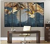 Apoart papier peint Peinture murale de fond de télévision de bon augure grue bleu classique 200X140cm(78.74 * 55.11in)