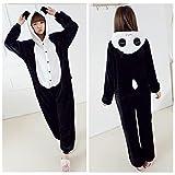 Womens Mens Adult Unisex Fleece Animal Onesies Pyjamas Sleepsuit Panda Size M