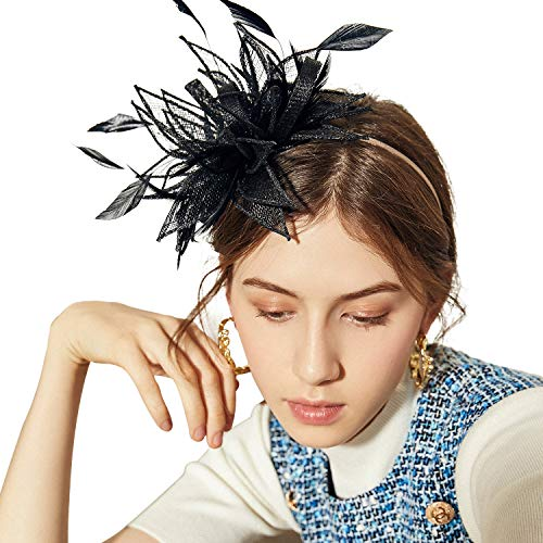Sedancasesa Sinamay Stirnband Fascinator Hochzeit Cocktail Tea Party Derby Headwear Rennen Royal Ascot Hüte