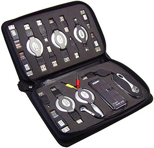 KesCom® USB Adapter Traveler Kit USB Hub Maus Adapter ... 17 Teile ... alles was das Herz begehrt in einer Tasche ...