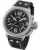 TW Steel Unisex-Armbanduhr Canteen Leather Chronograph Leder Schwarz CS4