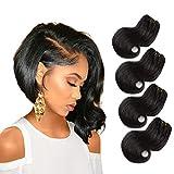 Remy Hair Tissage Bresilien en lot - ORANGE STAR 8a tissage bouclé naturel cheveux humains tissage lot de 4 bundles human hair 8 pouces noir can be dyed