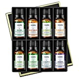 VicTsing 8 * 10ml Aromatherapy Essential Oils Set, 100% Pure Therapeutic Grade, Premium
