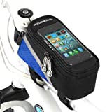 Supporto bici porta iPhone 4 4s 5 HTC One Samsung S2 S3 S3 mini custodia impermeabile tubolare touch bicicletta