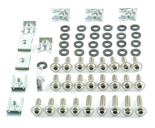 Tech-Parts-Koeln Motorrad Verkleidungsschrauben + Klemmen / Clips M6 Schrauben 6mm Set - 60 Teile