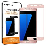 Samsung Galaxy S7 Vollbildschirm Schutz aus gehärtetem Panzerglas, 9H Härte und Anti-Fingerabdruck Oleophobic Beschichtung - Rosa Gold
