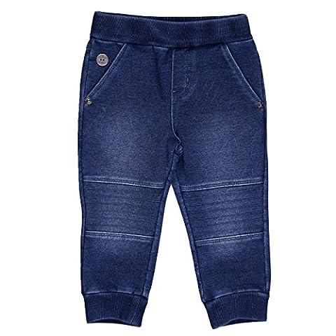 Bóboli Baby-Jungen Hose Fleece Denim Trousers For Boy Blau (Blue), 62