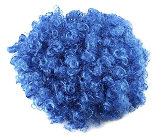 Sourcingmap Perruque afro pour déguisement et cosplay, couleur bleue