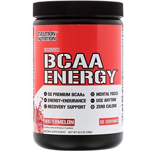 Evlution Nutrition BCAA Energy - leistungsstarkes energetisierendes Aminosäure Supplement für Muskelaufbau, Regeneration und Ausdauer (30 Portionen) Watermelon -