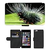 Just carcasa caliente estilo ranura de tarjeta de teléfono celular Funda de piel sintética//m00140349Caterpillar Nimble Caterpillar insectos//Apple iPhone 6Plus 5.5'
