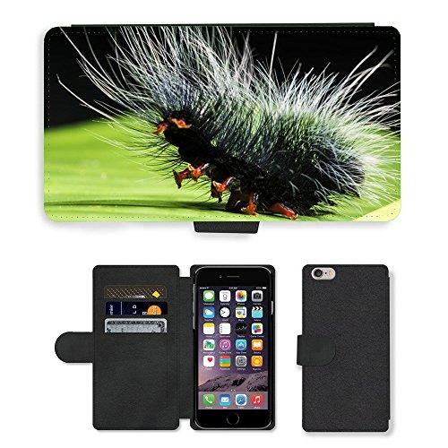 Just Mobile pour Hot Style Téléphone portable étui portefeuille en cuir PU avec fente pour carte//m00140349Nimble Caterpillar Caterpillar/Apple iPhone 6Plus/insectes 14cm