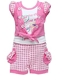 GOLDEN GIRL Girl's Cotton Top and Shorts Set