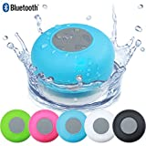 SeCro Waterproof Wireless Bluetooth Shower Speaker Hands-free Speakerphone Compatible with All Bluetooth Devices - Blue (Buy Original SeCro Brand from only Backbencers Seller to get SeCro Warranty