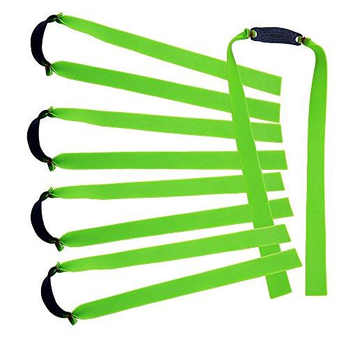 mangobuy 10PCS flach Elastic Rubber Band Outdoor Slingshot Ersatz Band für Holz Slingshot Katapult konisch Jagd Bands, grün