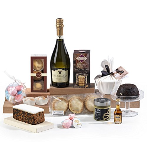 Hay Hampers Prosecco & Christmas Goodies Hamper Box - FREE UK Delivery