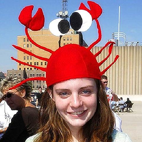 Christmas Hat, Xinantime Christmas Crab Hat Funny Santa Hat (Red)