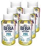 Nestlé BEBA OPTIPRO PRE, Säuglingsmilchnahrung von Geburt an, trinkfertige Babymilch im Fläschchen, leicht verträgliche Babynahrung, 6er Pack (6 x 200 ml)