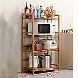 WEBO HOME- Küche Regalboden Mikrowelle Abstellraum Küche Supplies Aufbewahrungsfach Bäckerei -Regal ( größe : 70cm )